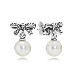 ff0f9fd4f Image is loading NEW-Authentic-Pandora-Delicate-Sentiments-White-Pearl-Drop-