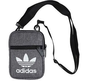 54eeba1beaf8 Image is loading Adidas-Originals-Festival-Bags-Gray-White-Shoulder-Cross-