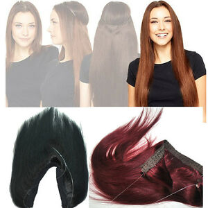 Halo-Remy-Invisible-Wire-Human-Hair-Extensions-Hidden-Handband-Real-Hair-16-034-30-034