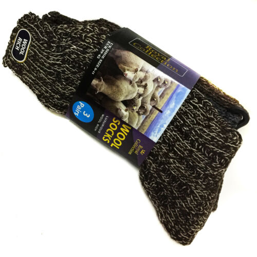 6 Pairs 6-11 Mens Long Thick Chunky Wool Work Hiking Boot Fishermans Socks Warm