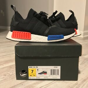 94339e2a0fde2 ADIDAS NMD R1 PK OG. Core Black Lush Red (2015). US MENS SIZE 7 ...