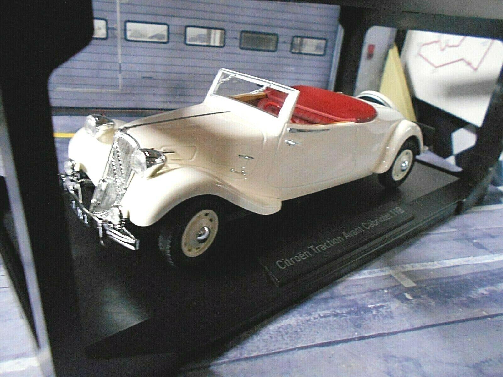 CITROEN Traction Avant 11B 11 B Cabrio Cabriolet 1939 cream 181440 Norev 1 18