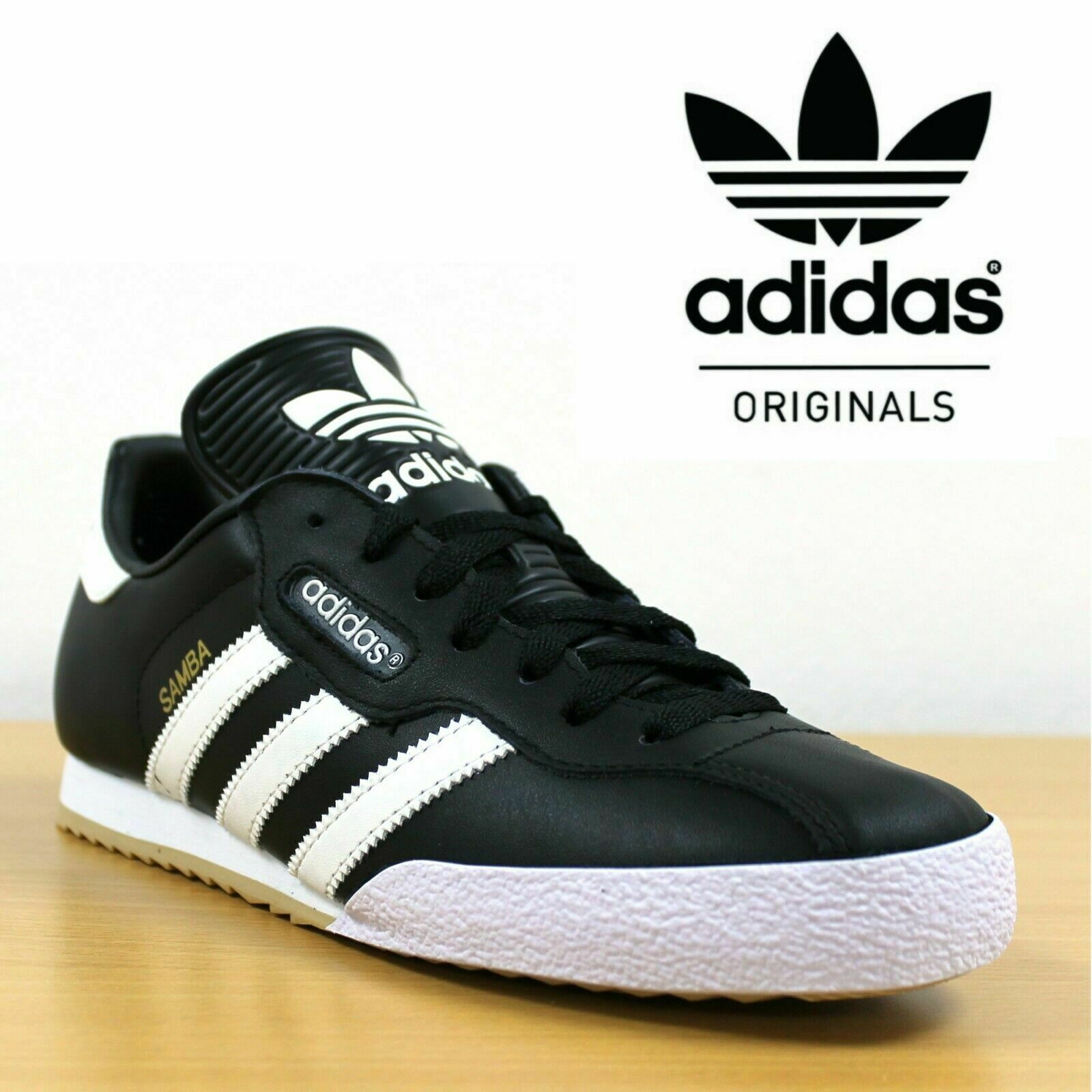 meet a2471 576c7 ADIDAS ORIGINAL SAMBA LEATHER TRAINERS TRAINERS TRAINERS - 24 hr TRACKED  DELIVERY beba08