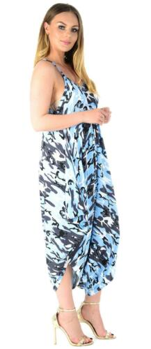 Womans V Neck Cami Jumpsuit Loose Harem Playsuit Baggy Rompers Trousers Dress