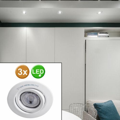 3er Set DEL de plafond Spots pivotant logement installation Projecteur Lampes Big Light