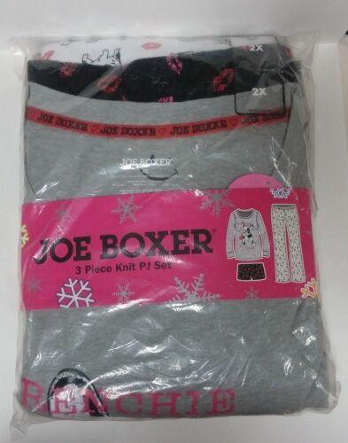 Joe Boxer 3 Piece Knit Pj Set Size 2X