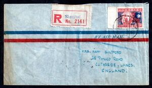 China-1946-Registered-Airmail-Cover-Shanghai-to-UK-WS11125