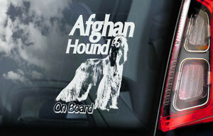 Afghan-Segugio-On-Board-Auto-Finestrino-Adesivo-Cane-Firmare-Farsi-Levriero