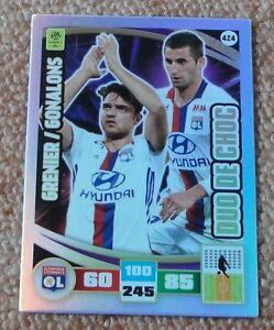 Adrenalyn-2016-17-Ligue-1-Grenier-Gonalons-Duo-de-choc-card-Rare-NEW
