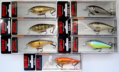 Seluang Special Color Crankbait Lure. Rapala Shallow Runner Shad Rap SSR-5 SLG