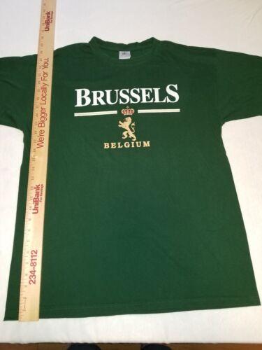 Green Brussels Belgium T-Shirt size XL