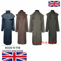 Mens Full Length Waterproof Riding Rain Cape Coat / Jacket