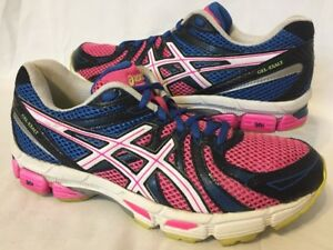 Asics Gel Exalt Womens Running Training Shoes Size 7.5 White Gray Blue T379N