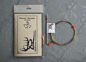10-Rabbit-or-Squirrel-Snares-20g-Brass-wire