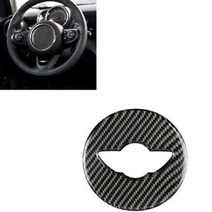 For-Mini-Cooper-F55-F56-F60-Carbon-Fiber-Steering-Wheel-Sticker-Cover-MA