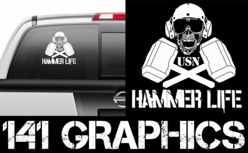 US Navy AMH Framer Seat Shop Hammer Life Flight Deck Crew Veteran Car Decal