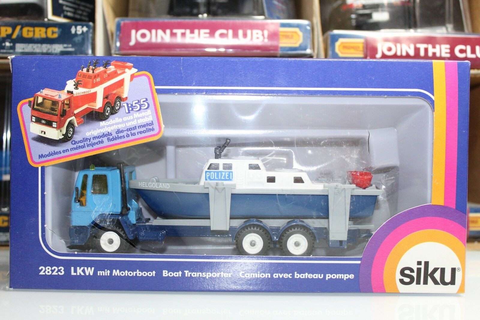 Siku Super Serie 1 55 Scale POLICE BOAT TRANSPORTER  2823