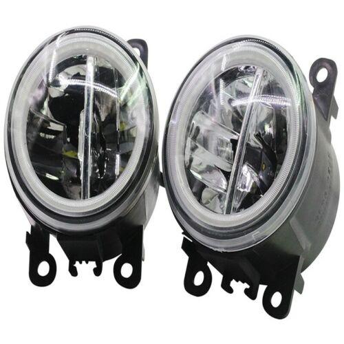 LED Fog Light Angel Eye Rings DRL Daytime Running Lamp Fit For citroën Berlingo