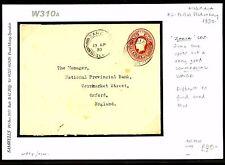 DBW310a 1930 NIGERIA 2d Postal Stationery E Used Zaria CDS/Oxford