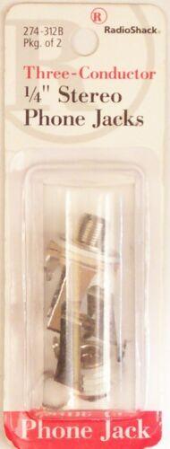 RadioShack 1//4 6.35mm Female Panel-Mount Stereo Phone Jack ~ Open Circuit 2//PK