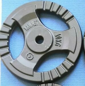 Free-delivery-10-kg-TRI-GRIP-Cast-Iron-Disc-Weight-Plate-brand-new
