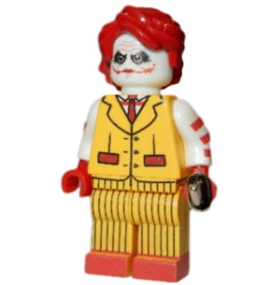 **NEW** LEGO Custom Printed - MCDONALD'S JOKER - DC Universe Food Minifigure