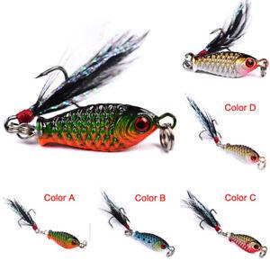 New 14 Kinds of Fishing Lures Crankbaits Hooks Minnow Baits Tackle Crank Set
