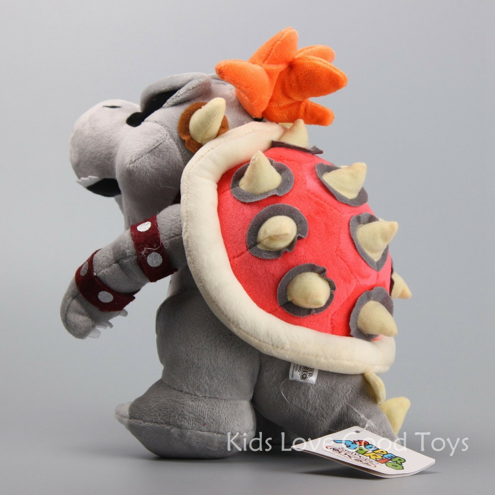 "10"" Super Mario Dry Bowser Bones Koopa Plush Doll Soft Toy ..."