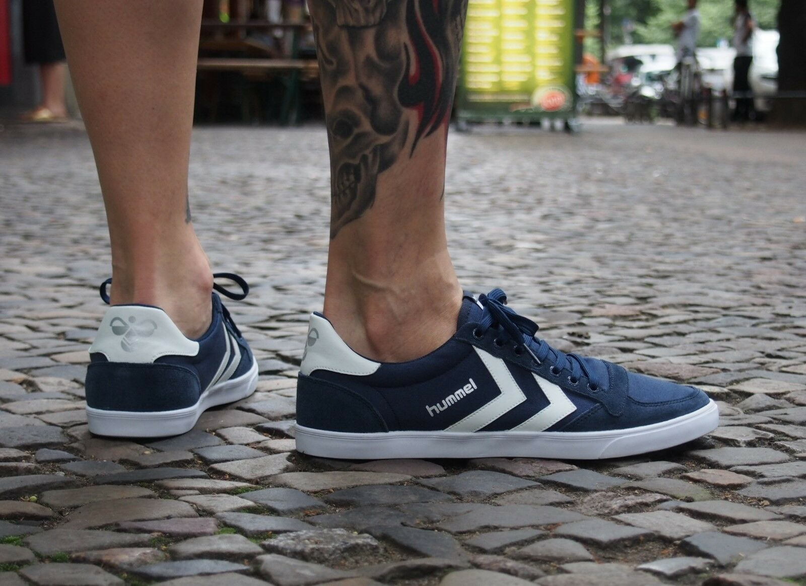 Hummel Sports Schuhe Schuhe Schuhe SLIMMER STADIL LOW 63-512-7647 dress Blau Canvas blau NEU  e1647a