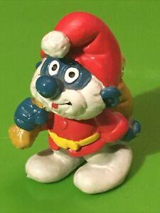 Smurfs Santa Papa Smurf 20124 Christmas Rare Vintage Display Toy Figurine