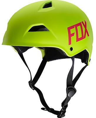 FOX RACING FLO YELLOW FLIGHT HARDSHELL MTB HELMET DOWNHILL FREERIDE TRAIL S M L