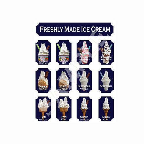 NEW Heritage style ice cream van stickers
