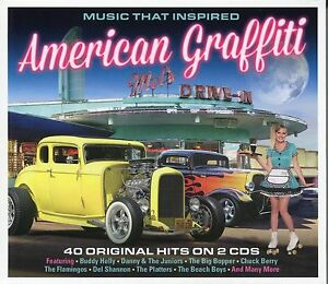 MUSIC-THAT-INSPIRED-AMERICAN-GRAFFITI-2-CD-BOX-SET-BUDDY-HOLLY-amp-MORE