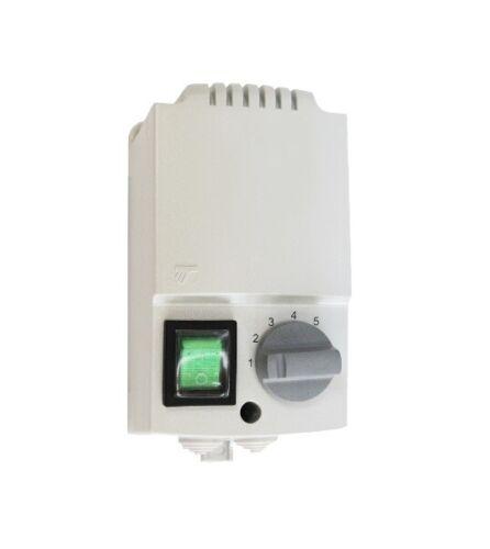 NEU 5-stufiger DREHZAHLREGLER für Lüfter Ventilator: 3,0A / 5,0A / 7,0A / 14,0A
