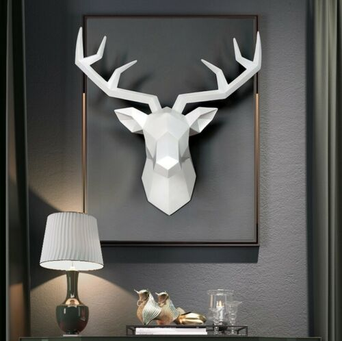 Home Statue Deer Head Decoration Accessories Vintage Antelope Head Abstract