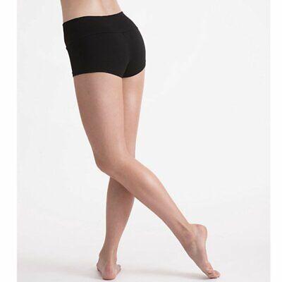 Ladies//Girls Sze 8 26in Sports knickers PE Games Briefs stretchy nylon Black