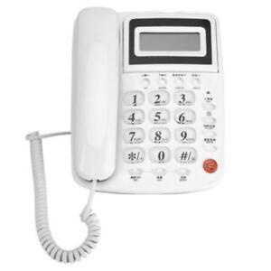 White Corded Telephone Caller Id Home Office Desktop Landline Handset Phone Uk