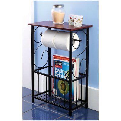 Magazine Toilet Paper Holder Small Bathroom Table Magazine Rack Stand Organizer 791769512148 Ebay