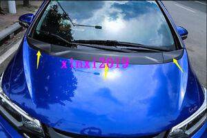 3x-Carbon-fiber-Front-Engine-Lid-decor-sticker-trim-For-Honda-Fit-Jazz-2014-2018