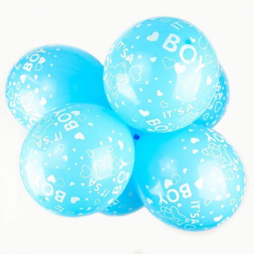 """Paquete De 10-12/"""" globos de látex es un niño Cielo Azul-Bear Baby Shower Globos"""
