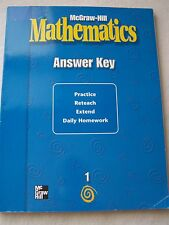 Mcgraw-hill Mathematics Answer Key Grade 4 UsedGood for sale