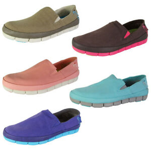 dd700ab830f6d Image is loading Crocs-Womens-Stretch-Sole-Slip-On-Loafer-Shoes