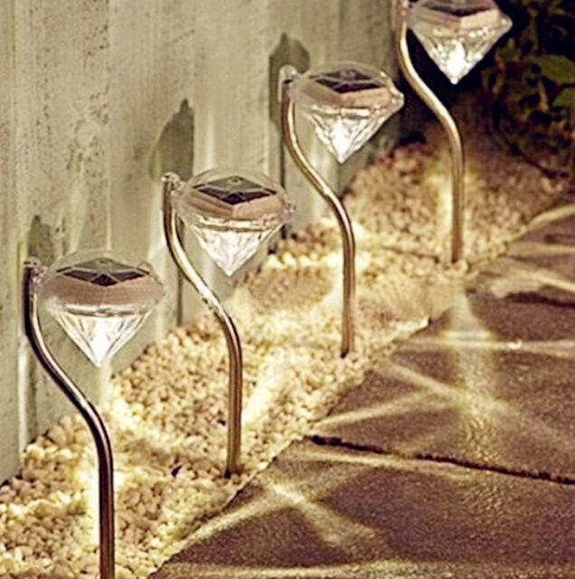BU AU Outdoor Solar Power LED Path Wall Landscape Mount Garden Fence Lamp Light