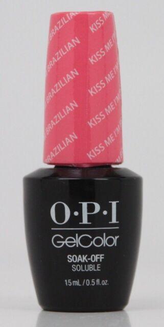 Opi Gelcolor Kiss Me Im Brazilian Gc A68 Ebay