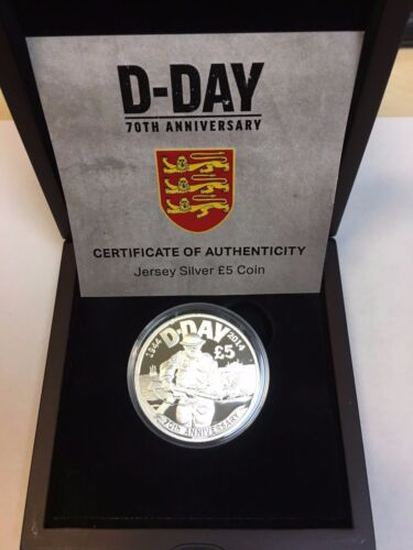 2014 OFFICIAL SILVER JERSEY 5 COIN DDAY ANNIVERSARY