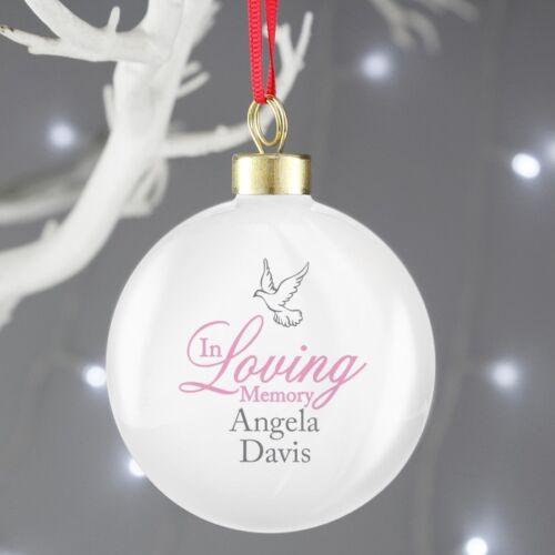 Luxe Personnalisé In Loving Memory babioles de Noël de Noël boules SOUVENIR
