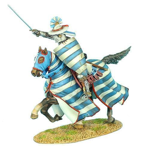 CRU051 - Mounted Crusader Lusignan Knight Charging - Crusades - First Legion