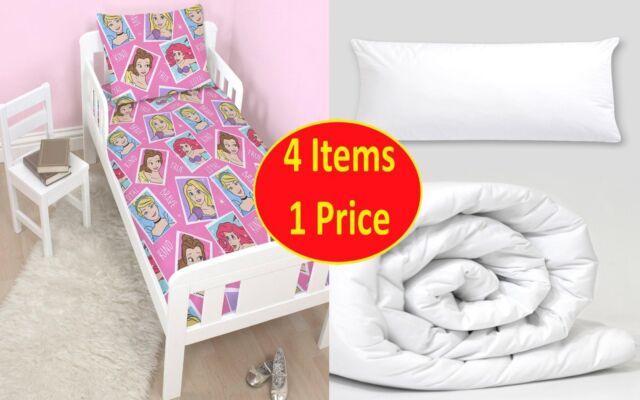 4 en 1 Princesa Brave Paquete de Cama Junior para Cuna Infantil Regalo Niñas