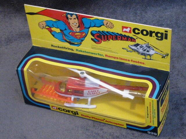 CORGI TOYS da magazzino Fund, N. 929-Superman Copter perfetto con imballo originale