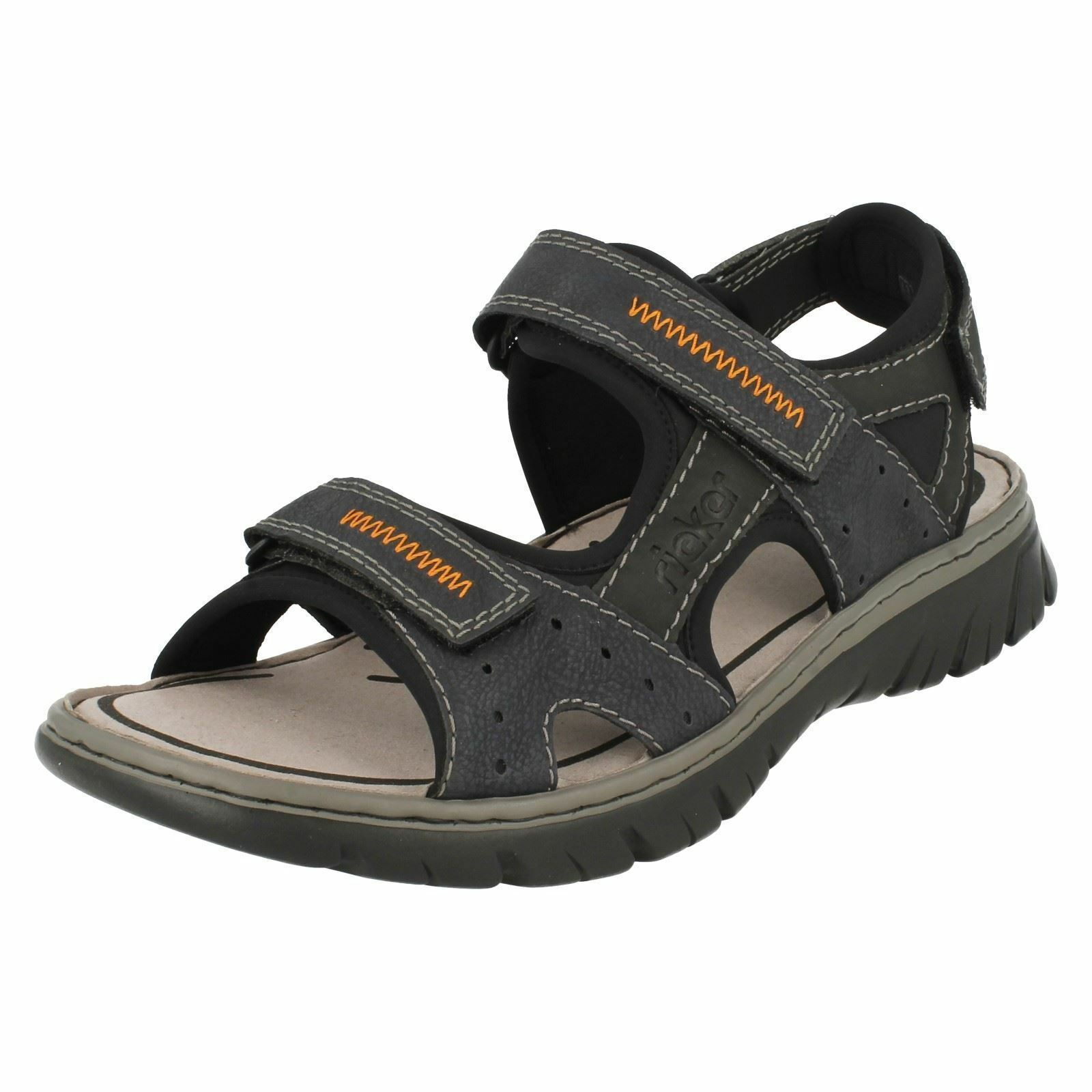 Mens Mens Mens Rieker 26757 bluee Combination Synthetic Strap Sandals b47453